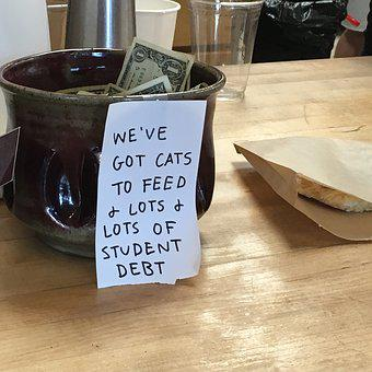 Tip Jar, Coffeeshop, Tips, Student Debt, Barista