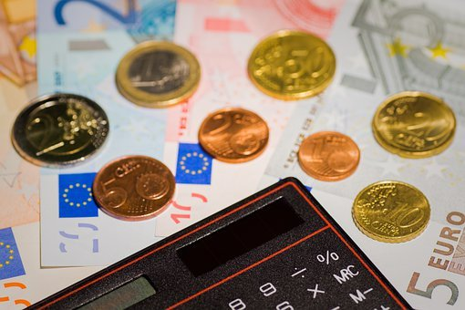 Money, Euro, Coin, Coins, Bank Note, Calculator, Budget
