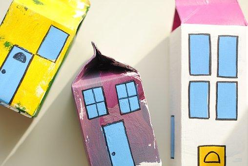 Toy Village, Milk Carton Craft, Craft, Kids, Fun