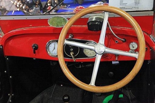 Oldtimer, Dashboard, Instrument Panel, Speedo, Interior