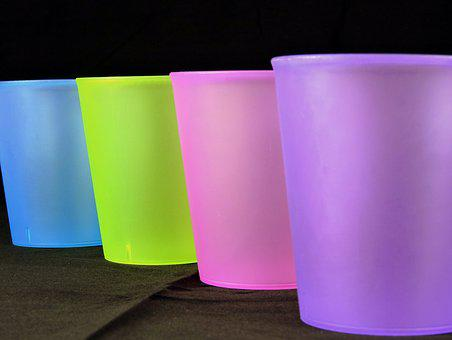 Glass, Color, Gradation, Drink, Row, Colorful
