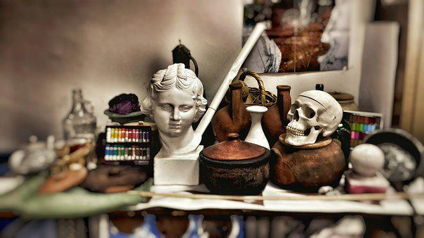 Eros, Baguio, Bust, Skull, Workshop, Studio, Drawing