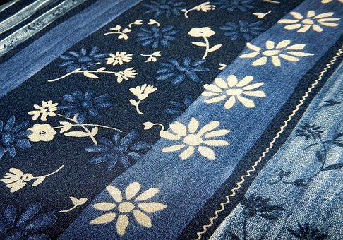 Background, Patterns, Fabric, Blue, Pattern, Texture