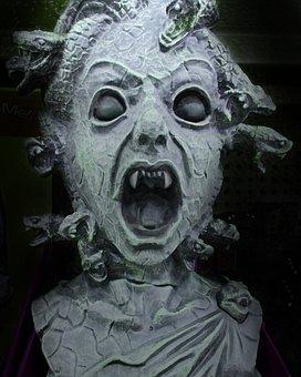 Medusa, Halloween, Beheaded, Hideous, Human, Female