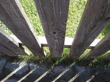 Fence, Shadow, Spring, Garden, Light, Drop Shadow