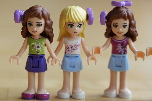 Children, Girl, Lego, Lego Friends, Girlfriends, Three