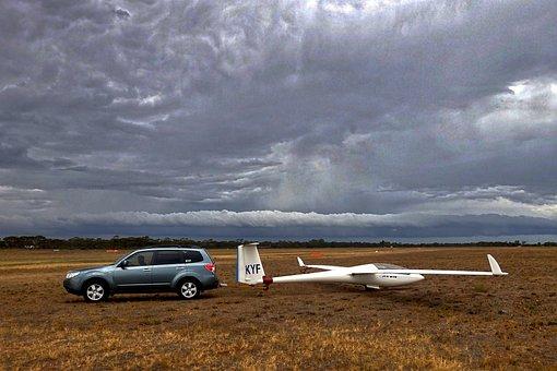 Glider, Storm, Ominous, Aero, Soarer, Open-air, Sky