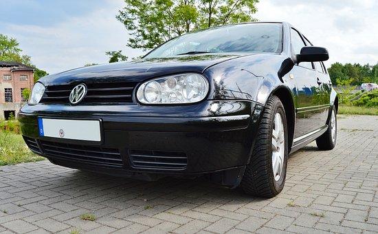 Auto, Golf 4, Gti, Volkswagen, Black, Front