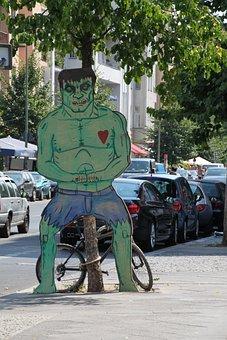 Hulk, Ugly, Figure, Sculpture, Monster, Creepy, Heart
