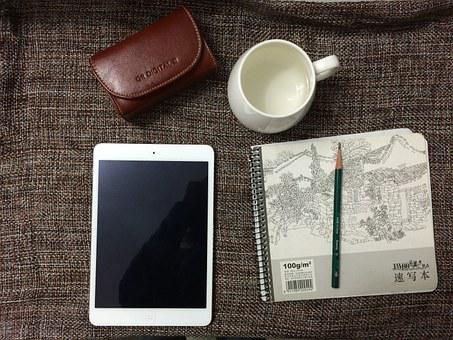 Ipad, Ipad Mini2, Apple, Book, Camera, Towel, Scarf