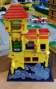Lego Blocks, Lego Build Colorful, Yellow, Assembled