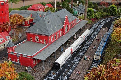 Lego, Railway Station, From Lego, Railway, Legoland