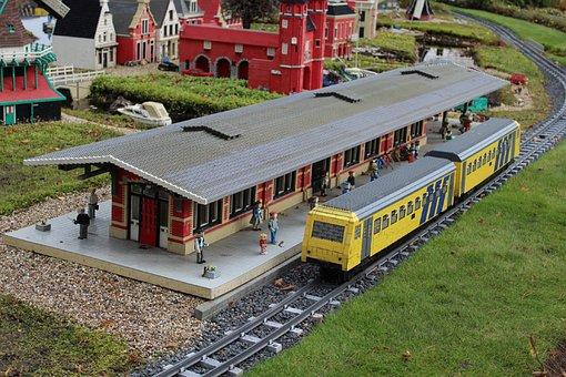 Lego, From Lego, Railway Station, Railway, Legoland