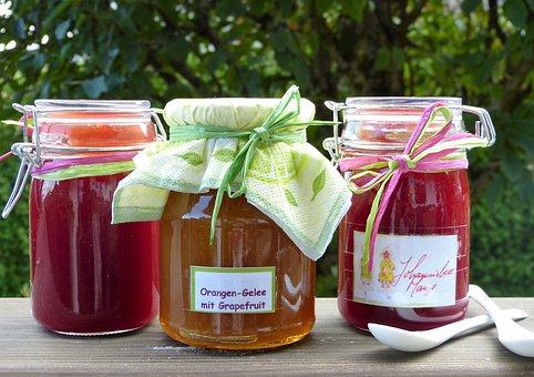Jam, Boil Down, Fruits, Glasses, Jelly, Make Durable