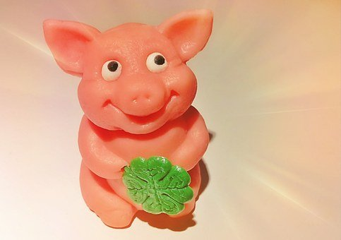 Pig, Marzipan Pig, Funny, Animal, Lucky Charm, Luck