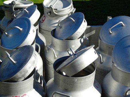 Milk Cans, Milchtransport, Dairy Farming, Alukessel
