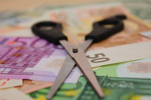 Scissors, Money, Salary, Profit, Bills, Earn, Euro, Tax