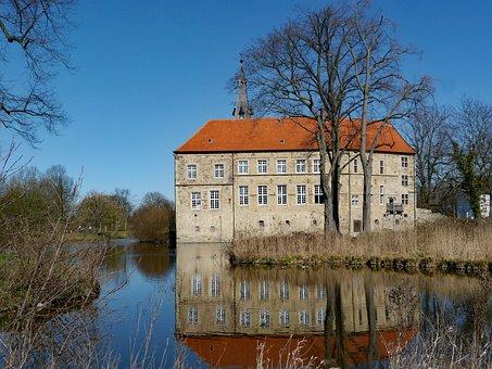 Lüdinghausen Burg, Wasserburg, Münsterland, Moat, Beech