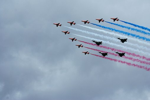 Typhoons, Red Arrows, Aerobatics, Formation