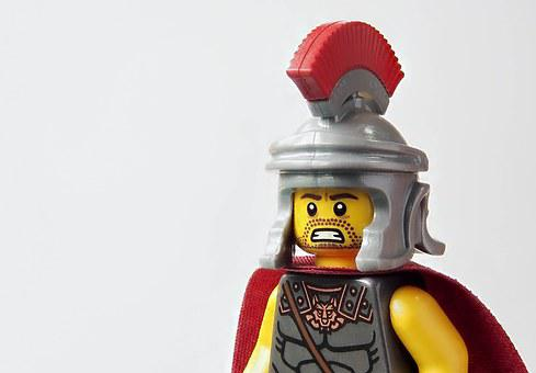 Lego, Roman, Centurion, Soldier, Army, Officer