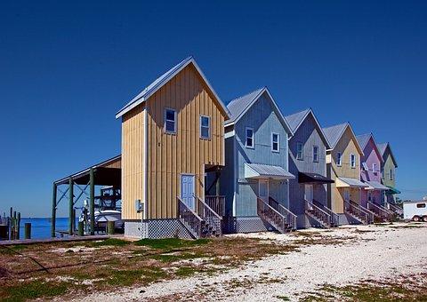 Houses, Row, Beach, Row Of Houses, Building