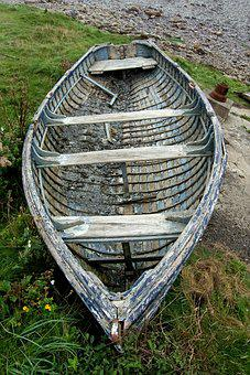 Boat, Rowing, Row, Old, Rowboat, Wooden, Wood, Clinker