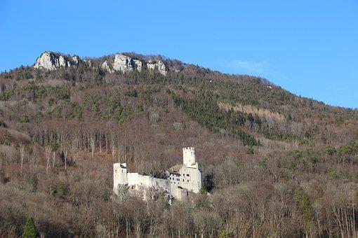 Neu-bechburg, Castle, Switzerland, Schweiz, Burg, Sky