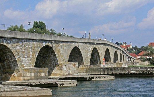 Regensburg, Stone Bridge, Landmark, Danube
