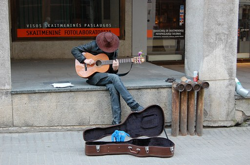 Busker, Street, Mu, Music, Instrument, Sound, Young