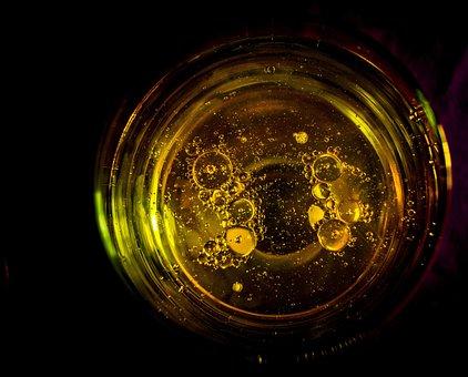 Drops, Gold, Water, Liquid, Sun, Light, Yellow, Oil