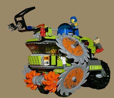 Lego, Pads, Toy, Lego Blocks, The Vehicle, Machine Unit