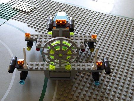Lego Blocks, Assembled, Flying Object, Toys