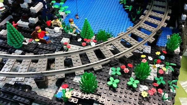 Lego, Train, Toys, Males, Plastic, Flowers, Children