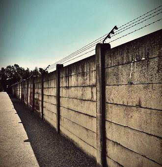 Konzentrationslager, Dachau, Wall, Barbed Wire, History