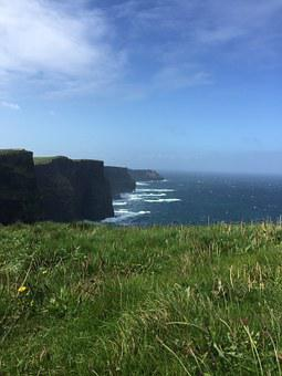 Cliffs Of Mohr, Ireland, Irish, Sea, Windy, Clare