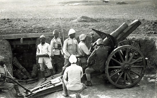 Howitzer, Gun, Turkey, World War I, Ww1, Wwi, Floor