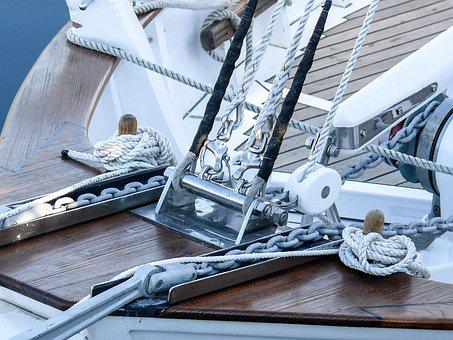 Sailboat, Accastillages, Boat, Rope, Sea, Winch, Pulley