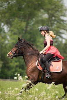 Ride, White, Gallop, Animal, Horse, Reiter, Dress