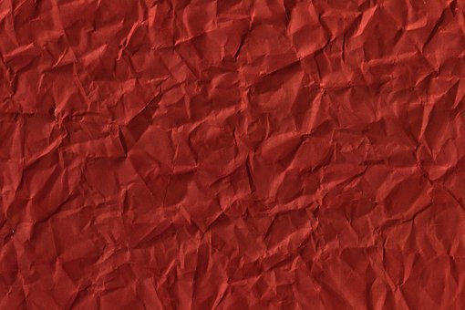 Crumpled, Paper, Red Abstract Background, Antique