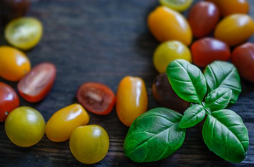 Basil, Tomato, Wallpaper, Background, Food, Fresh