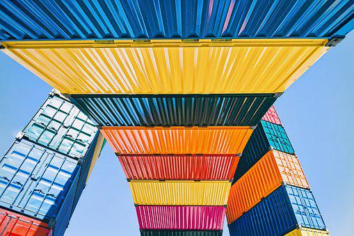Freight Container, Colourful, Cargo, Transport, Color