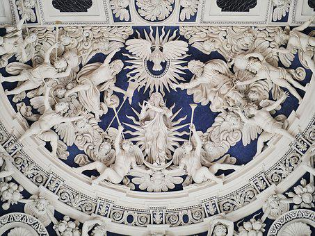 Cathedral Of Trier, West Choir, Relief, Ceiling Plastic