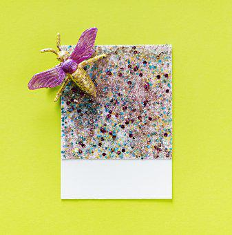 Abstract, Animal, Bug, Card, Confetti, Craft
