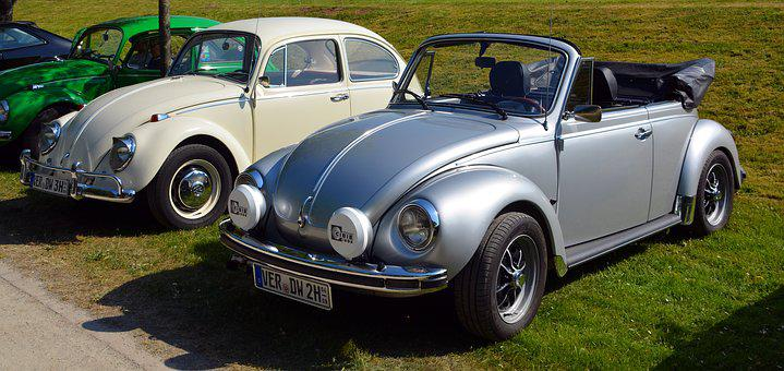 Oldtimer, Vw, Vw Beetle, Convertible, Auto, Old