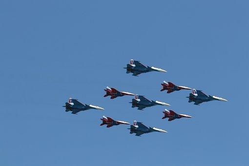 Cuban, Diamond, Air, Fleet, Russia, Moscow, Parade