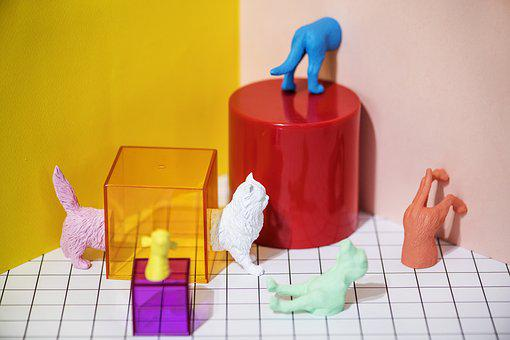 Abstract, Animal, Cat, Colorful, Creative, Cube