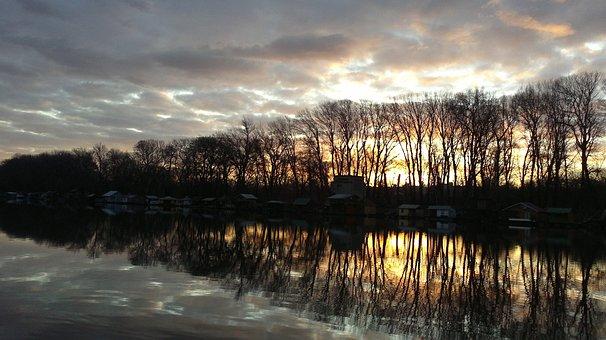 Sava, River, November, Early, Morning, Landscape