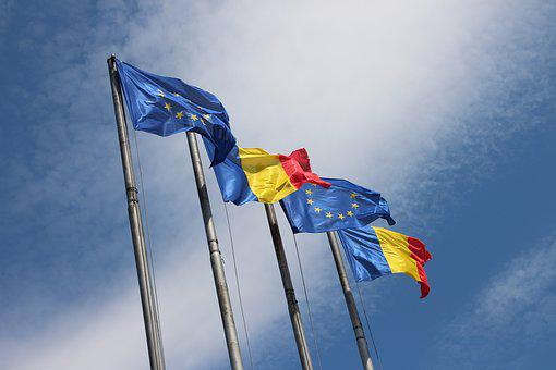 Romania, Eu, Flags, Europe, Flag, European Union Flag