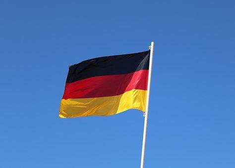 Flag, Germany, Europe, Black Red Gold, Eurovision, Blow