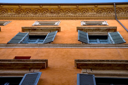 Architecture, Italian, Roman, Building, House, Facade